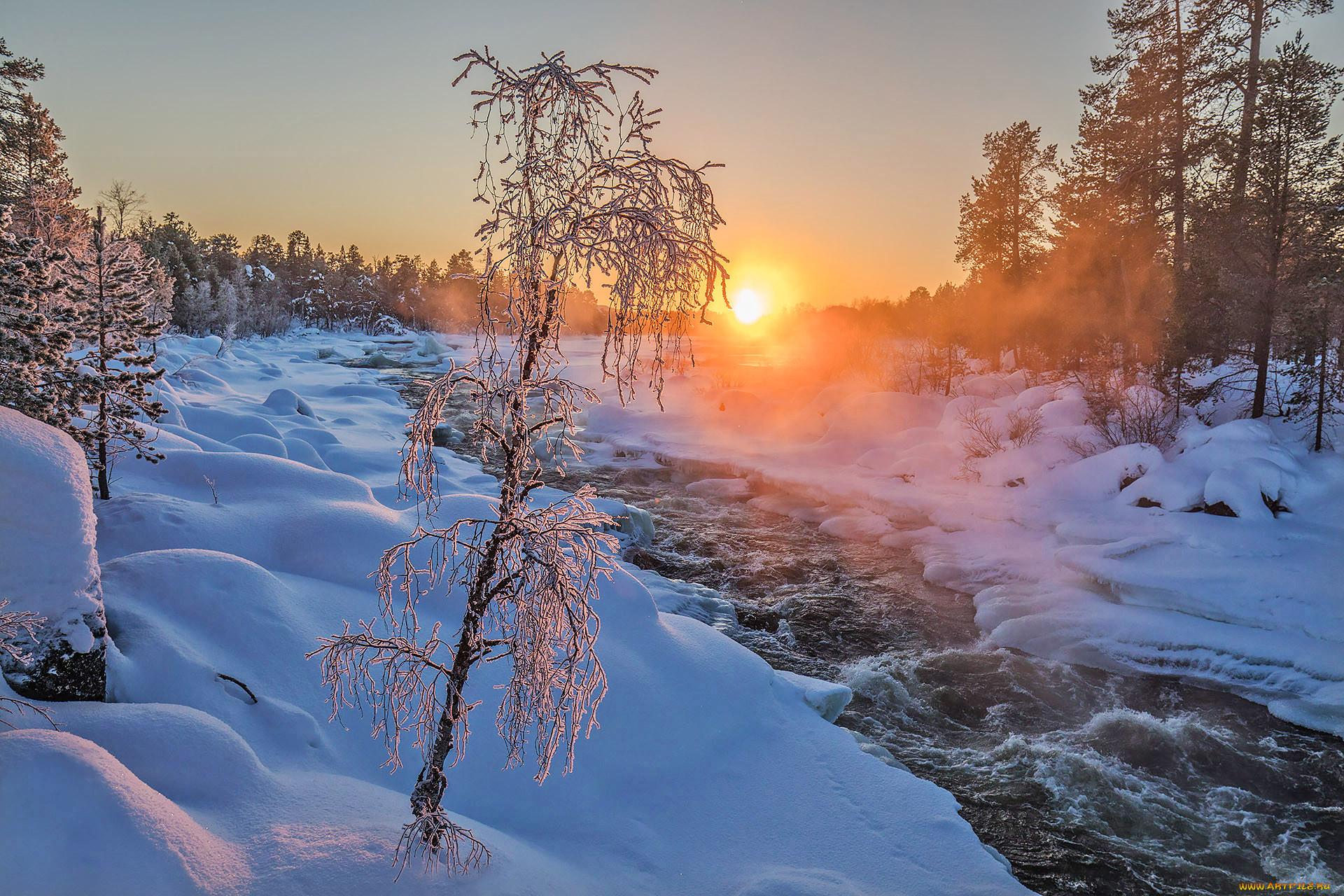 Картинки природа утром зима